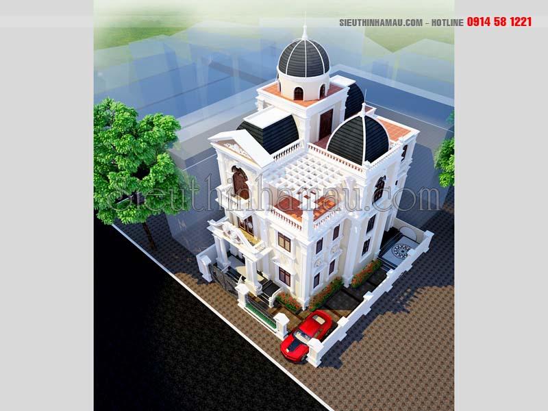 Nhà đẹp 3 tầng cổ điển