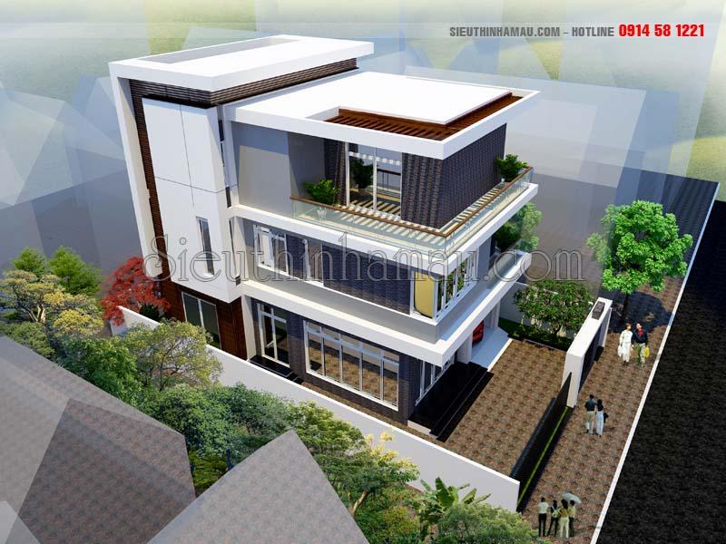 Nhà mái bằng hiện đại