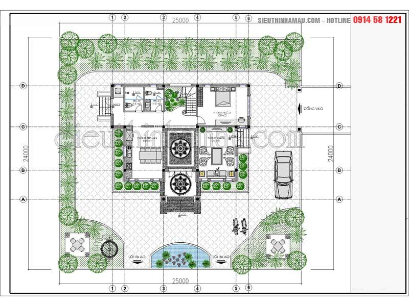 Nhà mái thái 130m2