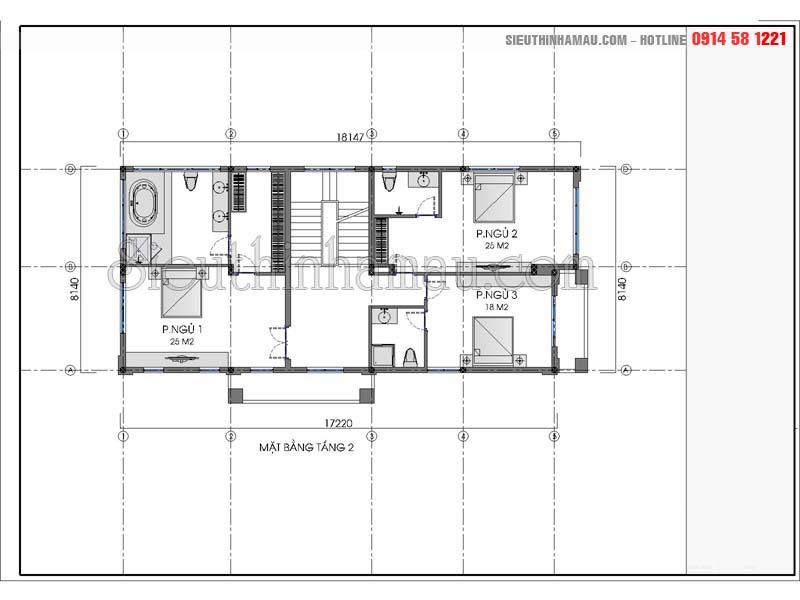 Nhà ống 3 tầng 4 phòng ngủ