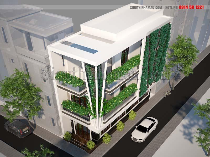 Mẫu nhà phố 2 mặt tiền hiện đại đẹp