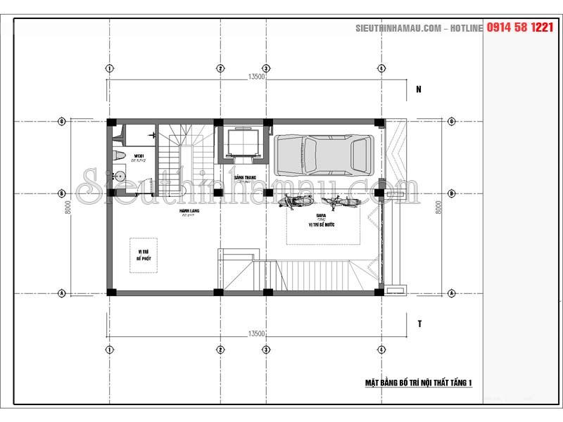 Thiết kế nhà phố 7 tầng hiện đại