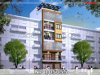 Nhà phố 7 tầng hiện đại