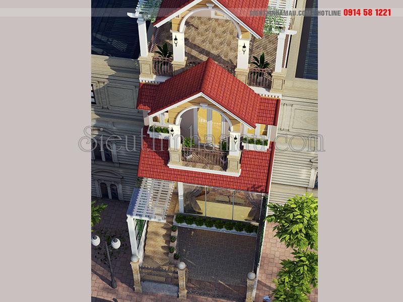 Nhà phố tân cổ điển 4 tầng 6x15m