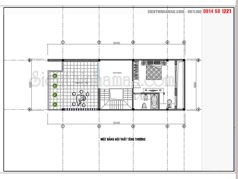 Vẻ đẹp mẫu nhà phố tân cổ điển 4 tầng 6x15m