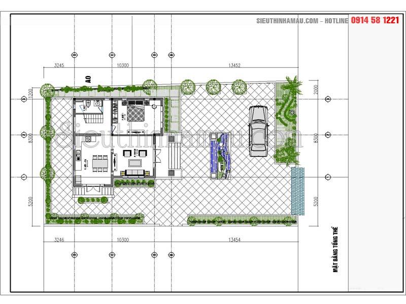 nhà vườn 2 tầng 3 phòng ngủ