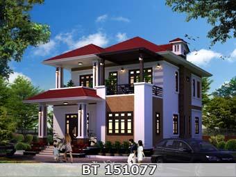 Thiết kế nhà 2 tầng mặt tiền 10m