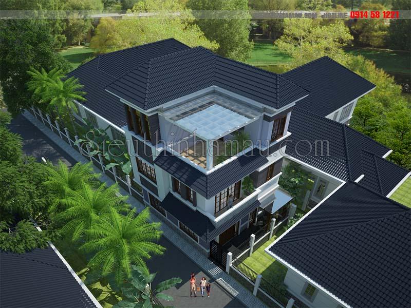 Thiết kế nhà 3 tầng 60m2