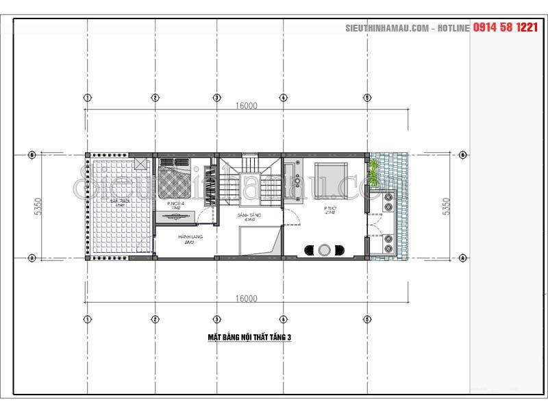 Thiết kế nhà 5x16m