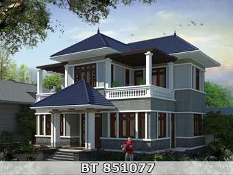 Thiết kế nhà đẹp 2 tầng 4 phòng ngủ