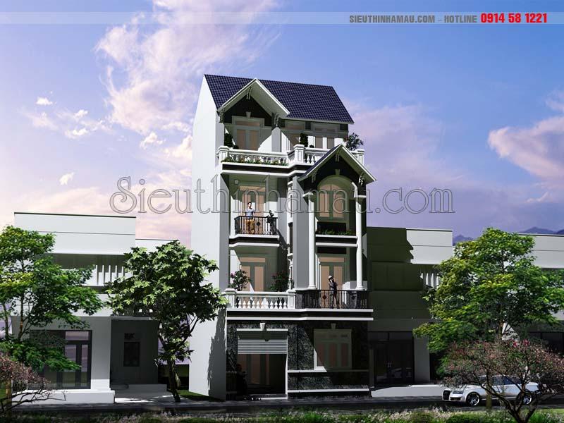Mẫu thiết kế nhà đẹp 65m2 4 tầng