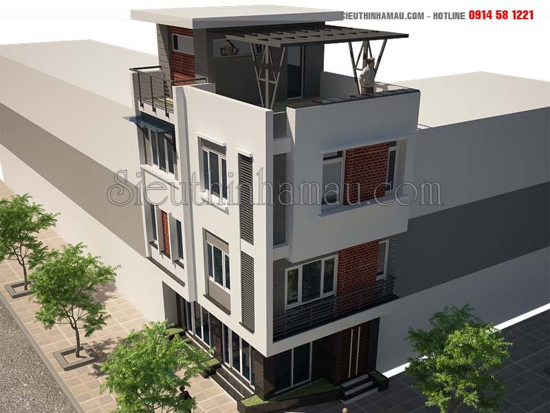 Thiết kế nhà phố 5x8m đẹp 3 tầng hiện đại