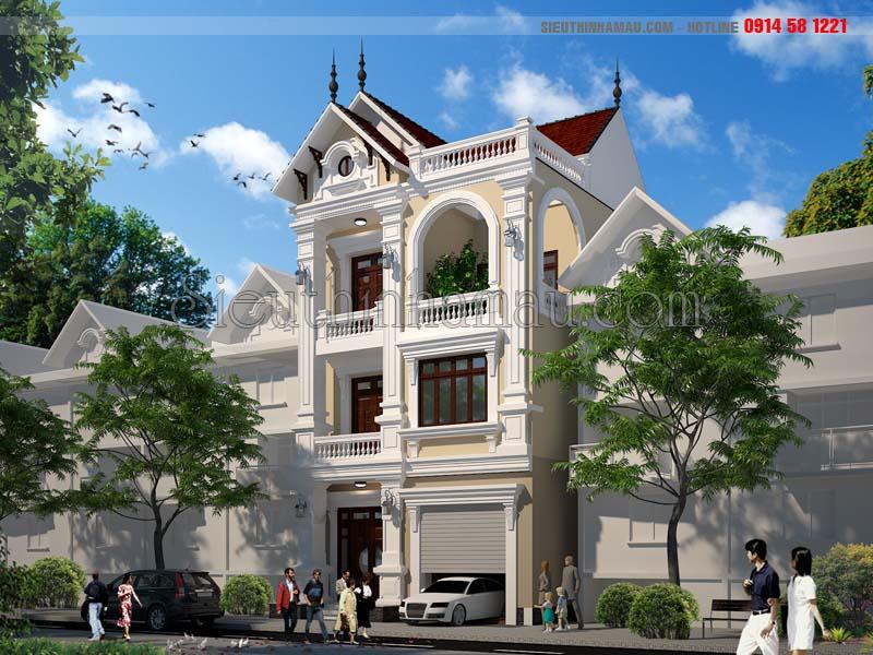 Mẫu thiết kế nhà phố 8x11m đẹp