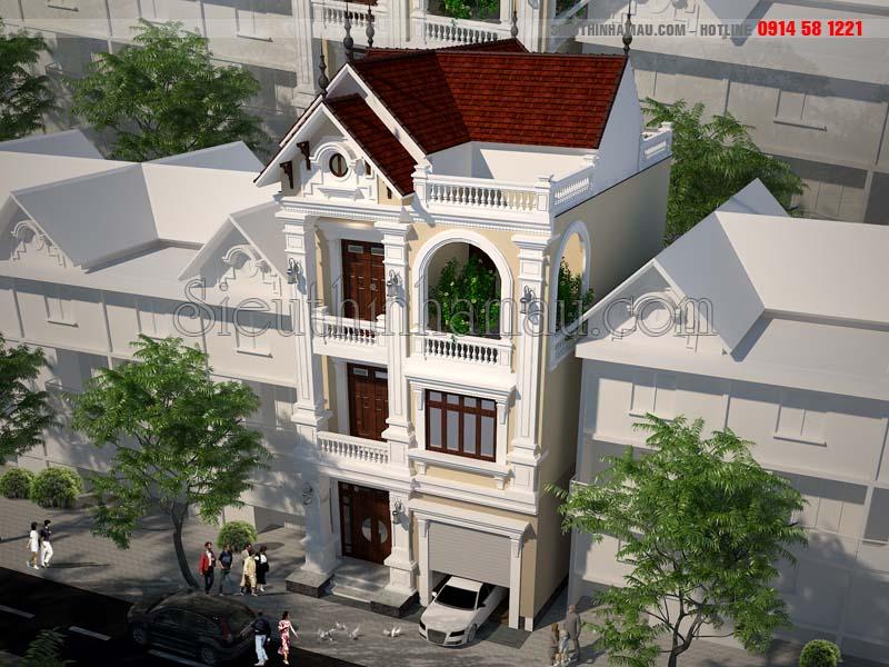 Thiết kế nhà phố 8x11m 3 tầng đẹp