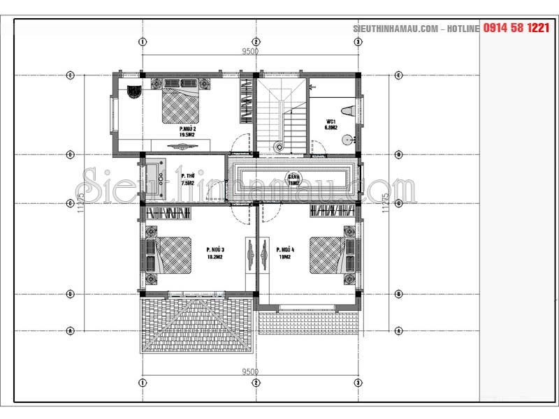 thiết kế nhà 10x11m