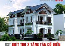 Mẫu nhà biệt thự 2 tầng phong cách tân cổ điển đẹp