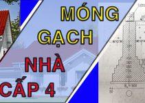 Hình ảnh chi tiết bản vẽ móng gạch nhà cấp 4