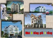 Mẫu thiết kế nhà 3 tầng giả 4 tầng