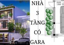 Thiết kế nhà biệt thự 3 tầng có gara