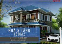 Thiết kế nhà biệt thự 2 tầng diện tích 130m2